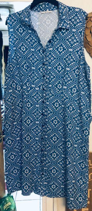 Woman's Size 22 Sky Blue Summer Dress