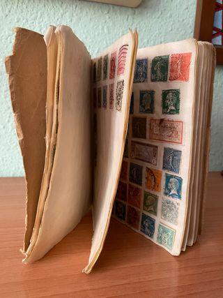 Antigua colección de sellos y billetes de Tranvia