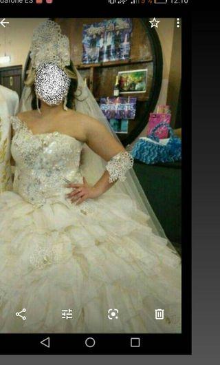 vestido de novia completo da para mas talla