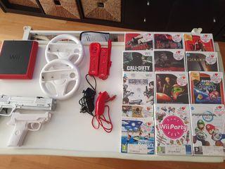 Consola Wii, con accesorios y juegos