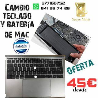 teclado y bateria de mac