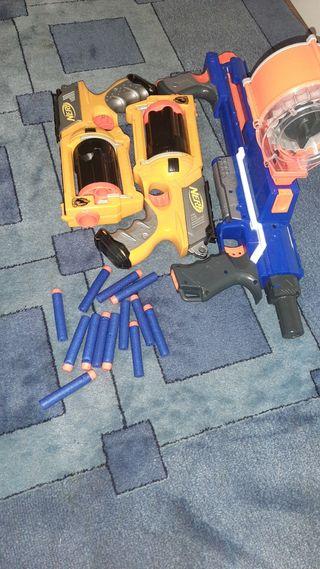 pistolas nerf con balas