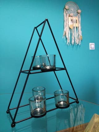 Candelabro minimalista figura geométrica