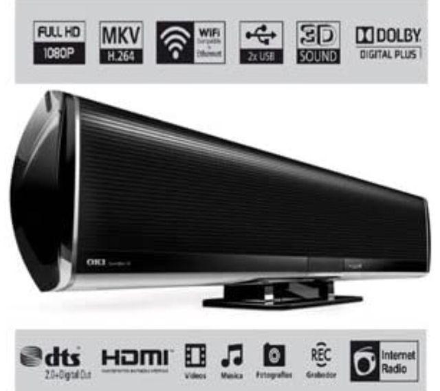 Barra de sonido Oki media center Soundbar 1g