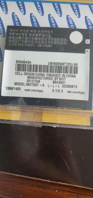 bateria para telefono motorola