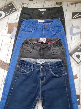 4 Pantalones Okaïdi niña talla 12
