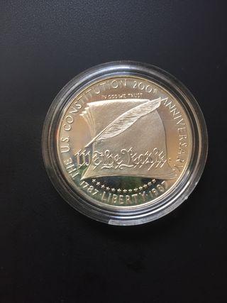 Moneda onza plata Estados Unidos sin circular