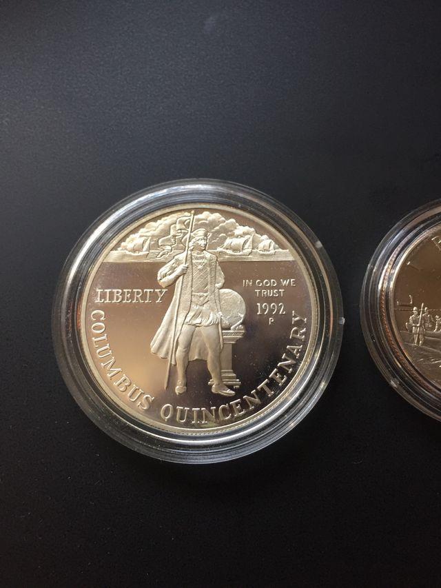 Lote monedas Dolar y Medio Dolar Estados Unidos