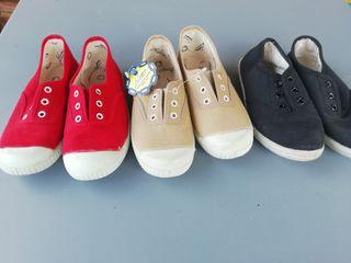 Lote zapatillas sin cordones talla 30