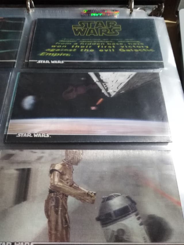 trading card star wars 3d set completo