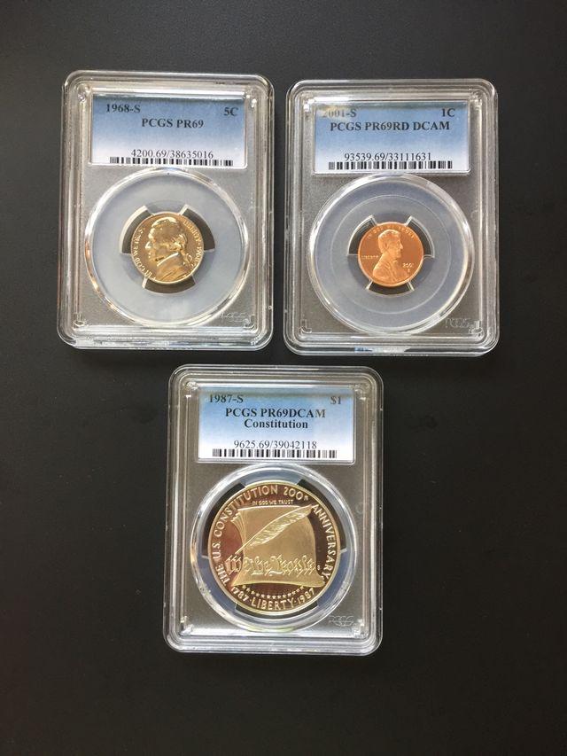 Lote 3 monedas Estados Unidos - certificadas