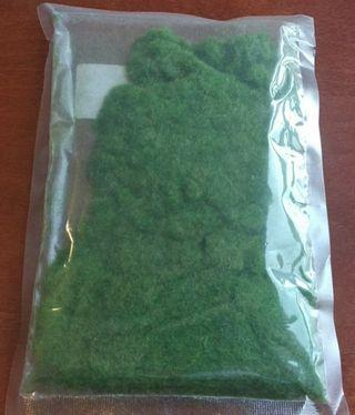 Césped ferroviario verde oliva bolsa 30g