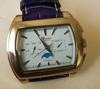 905-Reloj THERMIDOR automático, fases de luna, NOS