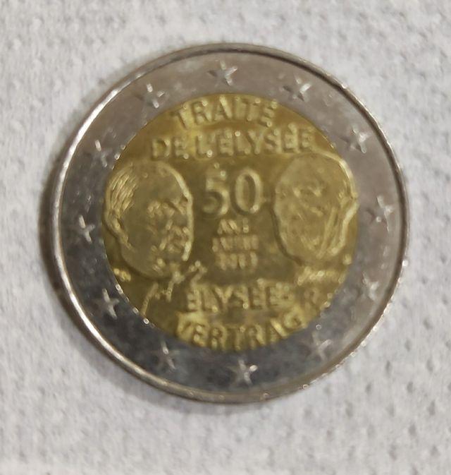 Moneda de 2€ Alemania firma del tratado del Eliseo
