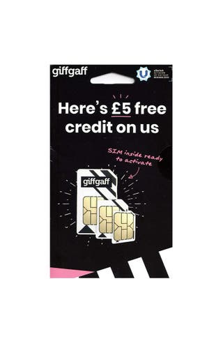 A pay as you go giffgaff sim card