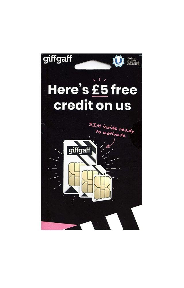A pay as you go giffgaff sim card