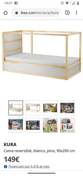 Cama infantil Kura Ikea