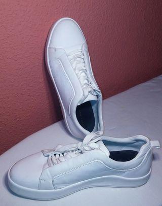 Zapatillas deportivas blancas Zara Man