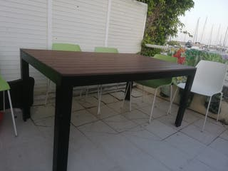 vendo mesa y sillas terraza o interior