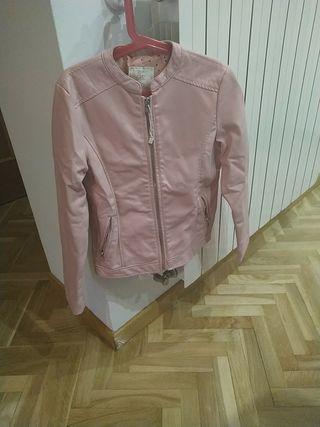 chaqueta cuero niña rosa