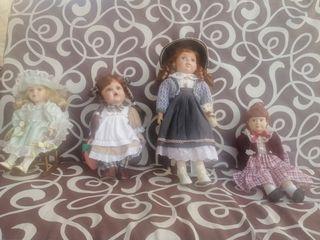 Muñecas de porcelana de 50 y 35 cm de epoca