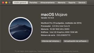 MacBook Pro 13 2012 i5 full update