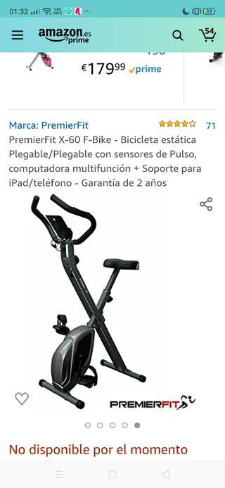 Bicicleta estática plegable