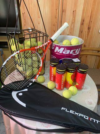 Raqueta de tenis profesional y material
