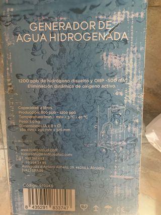 Generador de agua hidrogenada vital