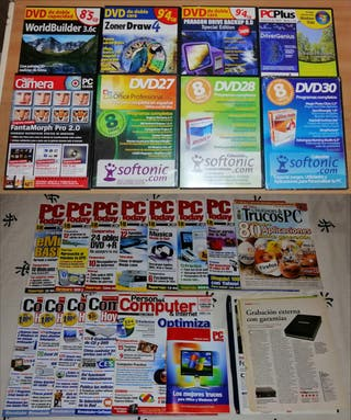 PC revistas + Guía + recortes + DVDs con programas