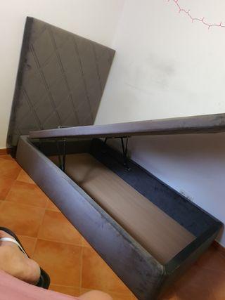 OFERTA CANAPÉ COLCHON BASE TAPIZADA SOMIER
