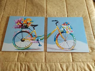 2 cuadros bicicleta