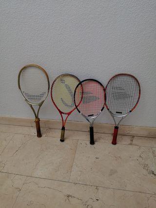 PACK de raquetas de tenis para niños