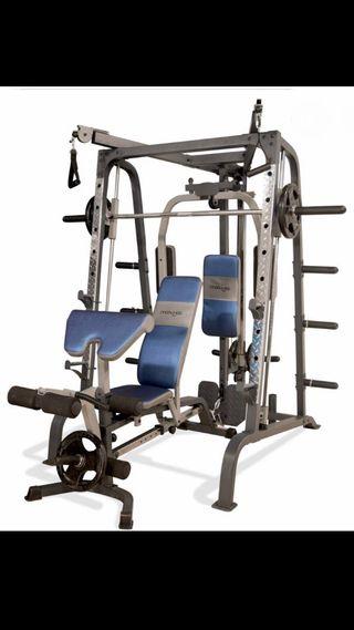 Smith machine, musculación, maquina multiestacion