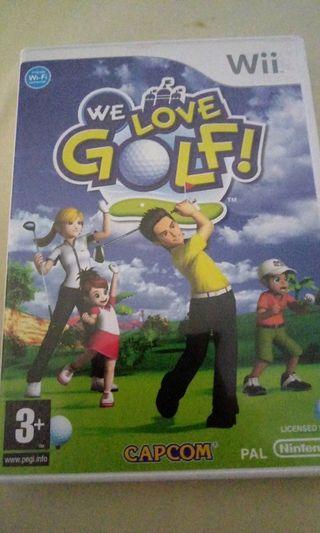 juego wii We Love Golf