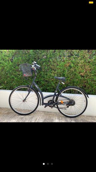 Bicicleta hombre talla L Decatlon negra