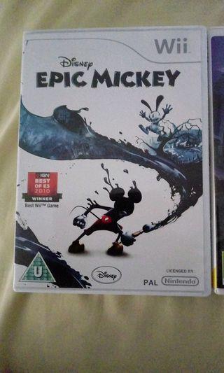 Epic Mickey 1 y 2 para wii