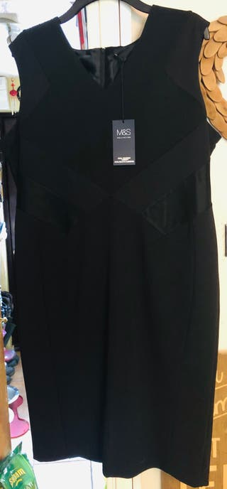M&S The Collection Size 20 BRAND NEW Black Dress