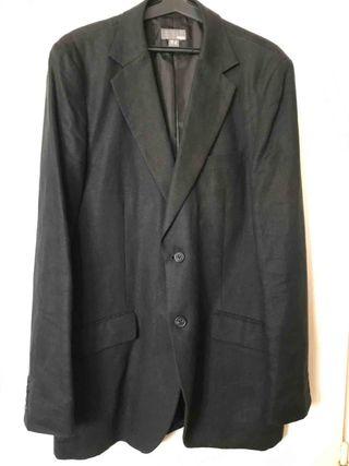 Americana H&M negra de lino talla 50 hombre