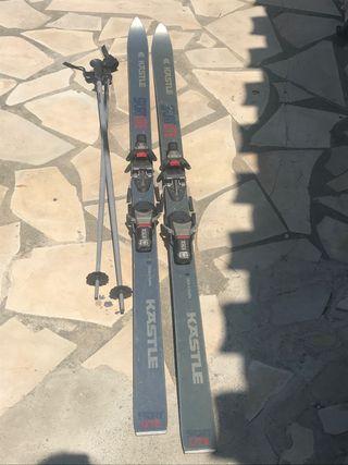 Ski kastle sport lite expert+palos(bâtons)