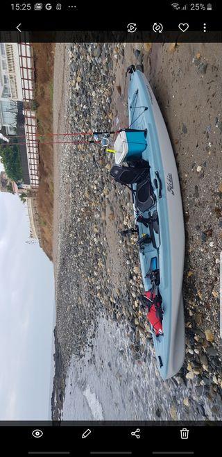 kayak hobie pasport 12 con pedales Aletas