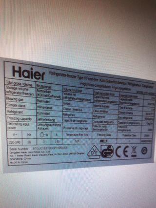 compresor frigorífico Haier HTF-4520M7