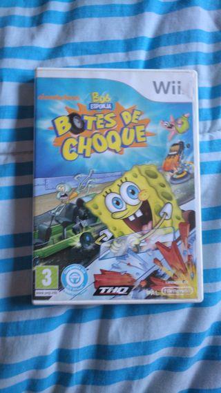 BOB ESPONJA BOTES DE CHOQUE. Wii.
