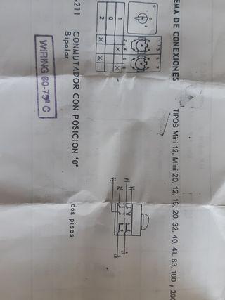 Conmutador 1-0-2 32A