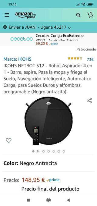 Robot Aspirador Ikohs S12