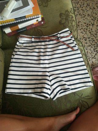 short rayas de Zara