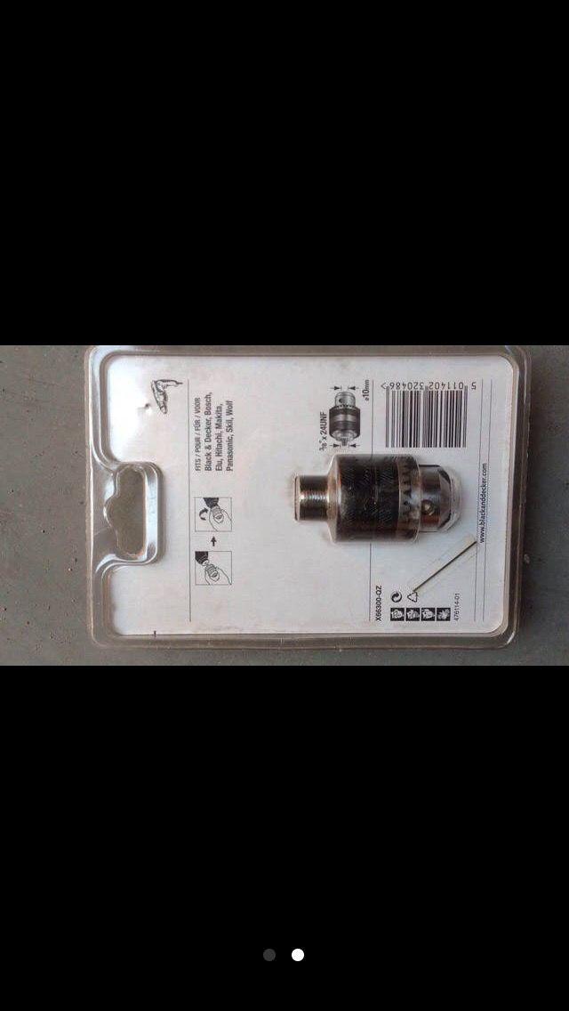 Portabrocas B&D 10mm con llave NUEVO
