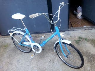 Bicicleta de paseo plegable Orbea años 80.