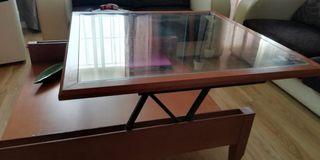 Conjunto mesa comedor + 4 sillas + Mesa de centro