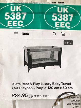 BRAND NEW BLACK iSafe TRAVEL COT